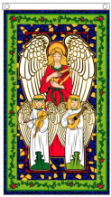 Christmas Angels Hanging 3'x5' (90cm x 150cm) Flag